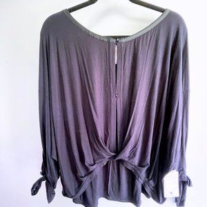 NWT Free People Oversized Black High Low Top M